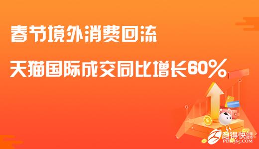【跑得快电商资讯】春节境外消费回流 天猫国际成交同比增长60%